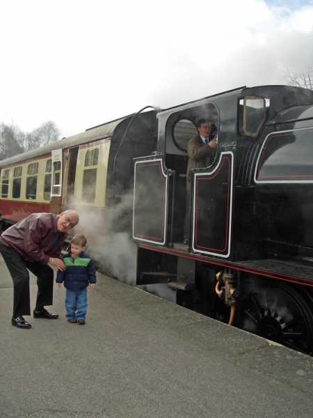 Trainspotting with no. 1 grandson