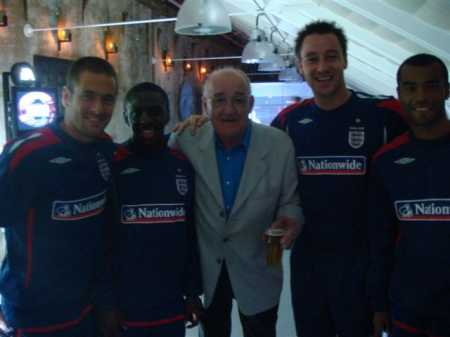 Jim with some of the England football team
